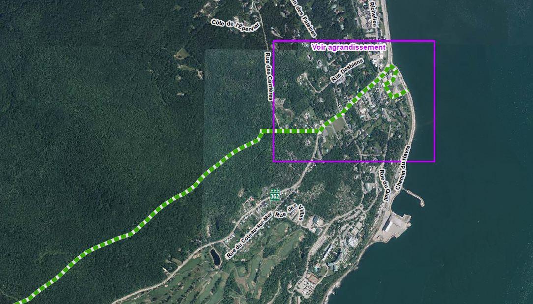 L important périmètre de sécurité, érigé dans le cadre du Sommet du G7 à La  Malbaie, se précise. La Sûreté du Québec a complété une carte, dans  laquelle il ... a8113acca6cd